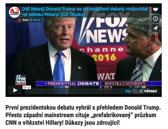 """""""Donald Trump meggyőző sikere az első elnöki vitán."""""""